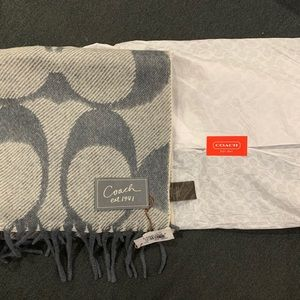 Coach wool/cashmere scarf *new w tags!